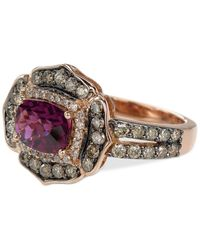 Le Vian | Multicolor Rhodolite Garnet (1-1/2 Ct. T.w.) And Diamond (9/10 Ct. T.w.) Ring In 14k Rose Gold | Lyst