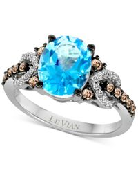 Le Vian | Blue Topaz (2-3/4 Ct. T.w.) And Diamond (1/3 Ct. T.w.) Ring In 14k White Gold | Lyst