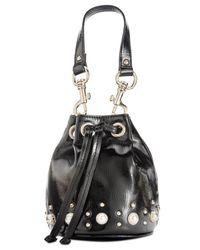Steve Madden - Black Carly Studded Mini Bucket Bag - Lyst