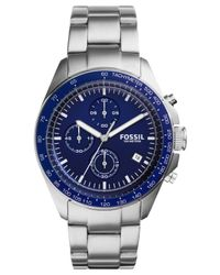 Fossil - Metallic Men's Chronograph Sport 54 Stainless Steel Bracelet Watch 44mm Ch3030 for Men - Lyst