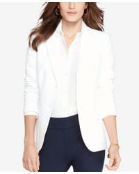 Lauren by Ralph Lauren - White Plus Size Jacquard Jacket - Lyst