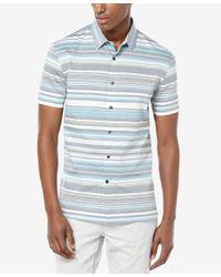 Perry Ellis - Multicolor Men's Horizontal-stripe Short-sleeve Shirt for Men - Lyst