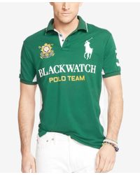 Polo Ralph Lauren - Green Men's Big & Tall Black Watch Pieced Polo Shirt for Men - Lyst