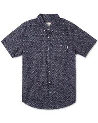 Rip Curl | Blue Mix Master Short Sleeve Shirt for Men | Lyst