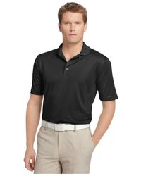 Izod | Black Performance Solid Grid Golf Polo for Men | Lyst