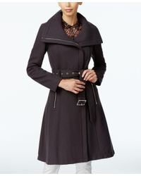BCBGeneration | Black Asymmetrical A-line Walker Coat | Lyst