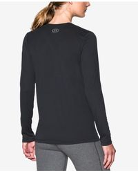 Under Armour - Black Ua Tech Long-sleeve Top - Lyst