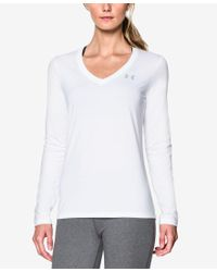 Under Armour | White Ua Tech Long-sleeve Top | Lyst