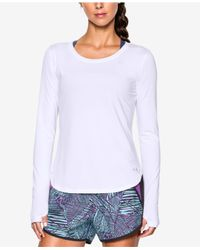 Under Armour   White Fly By Long-sleeve Training Top   Lyst