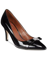 Cole Haan | Black Juliana 75 Pointed-toe Pumps | Lyst