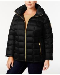 Michael Kors | Black Michael Quilted Packable Down Puffer Coat, Only At Macy's | Lyst