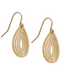 Macy's - Metallic Teardrop-shape Cut-out Drop Earrings In 10k Gold - Lyst