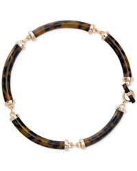 Lauren by Ralph Lauren | Metallic Gold-tone Faux Tortoiseshell Collar Necklace | Lyst