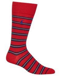 Polo Ralph Lauren - Red Men's Striped Socks for Men - Lyst
