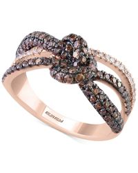 Effy Collection | Pink Espresso By Effy Diamond Knot Ring (1-1/10 Ct. T.w.) In 14k Rose Gold | Lyst