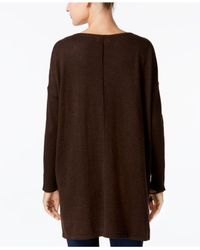 Style & Co. - Brown Boat-neck Tunic Sweater - Lyst