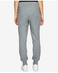1.STATE - Gray Brushed Jersey Jogger Pants for Men - Lyst