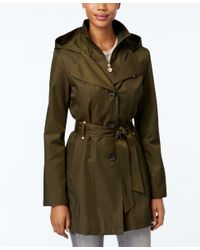 INC International Concepts | Green Hooded Raincoat, Only At Macy's | Lyst