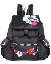 LeSportsac - Black Mickey & Minnie Collection Voyager Backpack - Lyst