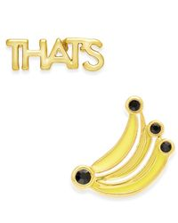 kate spade new york | Metallic That's Bananas Gold-tone Enamel Stud Earrings | Lyst