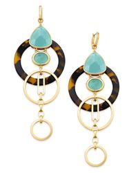 Kate Spade | Metallic Sun-kissed Sparkle Gold-tone Triple-drop Geometric Earrings | Lyst