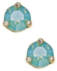 kate spade new york | Metallic Rise And Shine Gold-tone Crystal Stud Earrings | Lyst