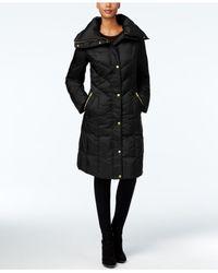 Cole Haan | Black Pillow-collar Puffer Coat | Lyst