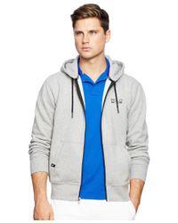 Polo Ralph Lauren - Gray Polo Sport Men's Fleece Zip Up Hoodie for Men - Lyst