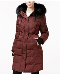BCBGeneration | Multicolor Faux-fur-trimmed Cinched-waist Puffer Coat | Lyst