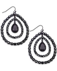 INC International Concepts | Metallic Hematite-tone Crystal Orbital Drop Earrings | Lyst