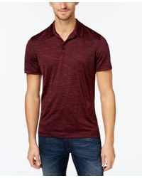 Alfani Red Men's Short-sleeve Marled Polo, Only At Macy's for men