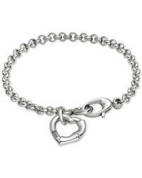 Gucci | Metallic Women's Sterling Silver Heart Charm Bracelet Yba390138001017 | Lyst