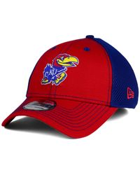 KTZ - Blue Kansas Jayhawks Team Front Neo 39thirty Cap for Men - Lyst