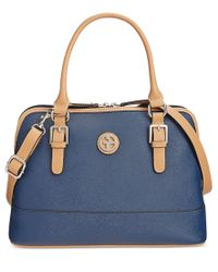 Giani Bernini | Blue Saffiano Medium Dome Satchel, Only At Macy's | Lyst