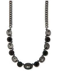 DKNY - Purple Hematite-tone Multi-stone Gray-scale Collar Necklace - Lyst
