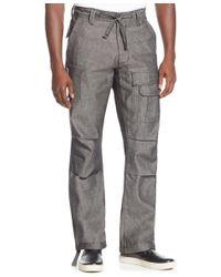 Sean John | Gray Pleat Pocket Flight Pants for Men | Lyst