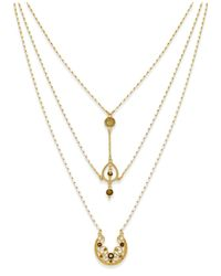 INC International Concepts - Metallic Gold-tone Three-layer Pendant Necklace, Only At Macy's - Lyst