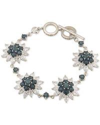 Carolee | Metallic Silver-tone Sunburst Crystal Link Bracelet | Lyst