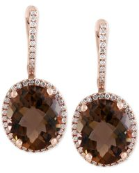 Effy Collection | Multicolor Smoky Quartz (7-7/8 Ct. T.w.) And Diamond (3/8 Ct. T.w.) Drop Earrings In 14k Gold | Lyst
