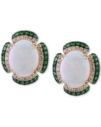 Effy Collection - Multicolor Opal (2-7/8 Ct. T.w.), Tsavorite (3/8 Ct. T.w.) And Diamond (1/5 Ct. T.w.) Pendant Necklace In 14k Gold - Lyst