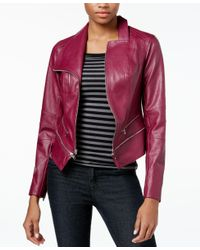 Guess - Multicolor Larissa Faux-leather Moto Jacket - Lyst