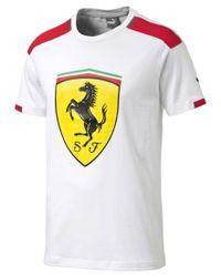 PUMA | White Men's Ferrari Drycell T-shirt for Men | Lyst