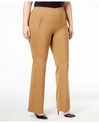 INC International Concepts | Brown Plus Size Wide-leg Pants, Only At Macy's | Lyst