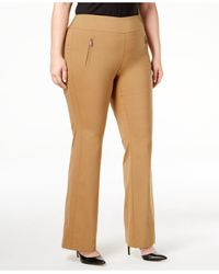 INC International Concepts   Brown Plus Size Wide-leg Pants, Only At Macy's   Lyst