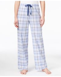 Charter Club Blue Printed Pajama Pants, Only At Macy's
