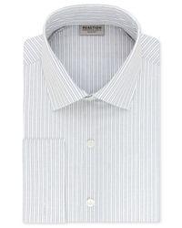Kenneth Cole Reaction | Blue Men's Slim-fit Techni-cole 3 Way Flex Navy Stripe Dress Shirt for Men | Lyst