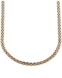 Macy's   Metallic Three Row Link Collar Necklace In 14k Gold, Made In Italy   Lyst
