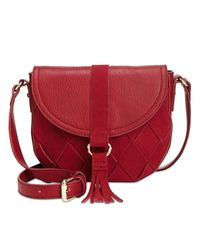 INC International Concepts | Red Ella Saddle Bag, Only At Macy's | Lyst