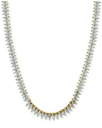 Giani Bernini | Metallic Cubic Zirconia Marquise Collar Necklace In Sterling Silver Or 18k Gold-plated Sterling Silver | Lyst