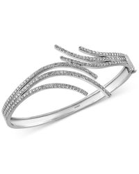 Effy Collection | Metallic Pave Classica By Effy Diamond Bangle Bracelet (2-1/4 Ct. T.w.) In 14k White Gold | Lyst